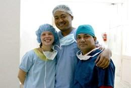 Nursing Elective volunteers pose for a picture at a placement in Nepal